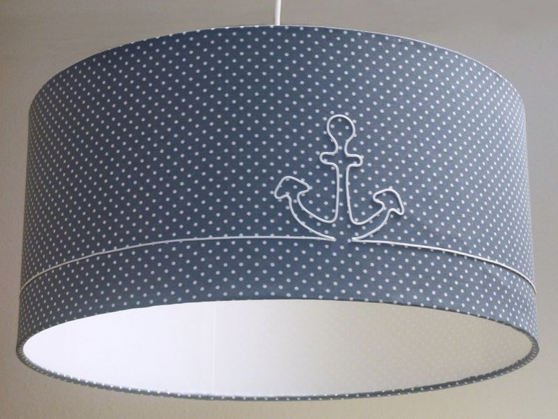 Lampenschirm anker lampshade anchor by atelier for Lampenschirm kinderzimmer