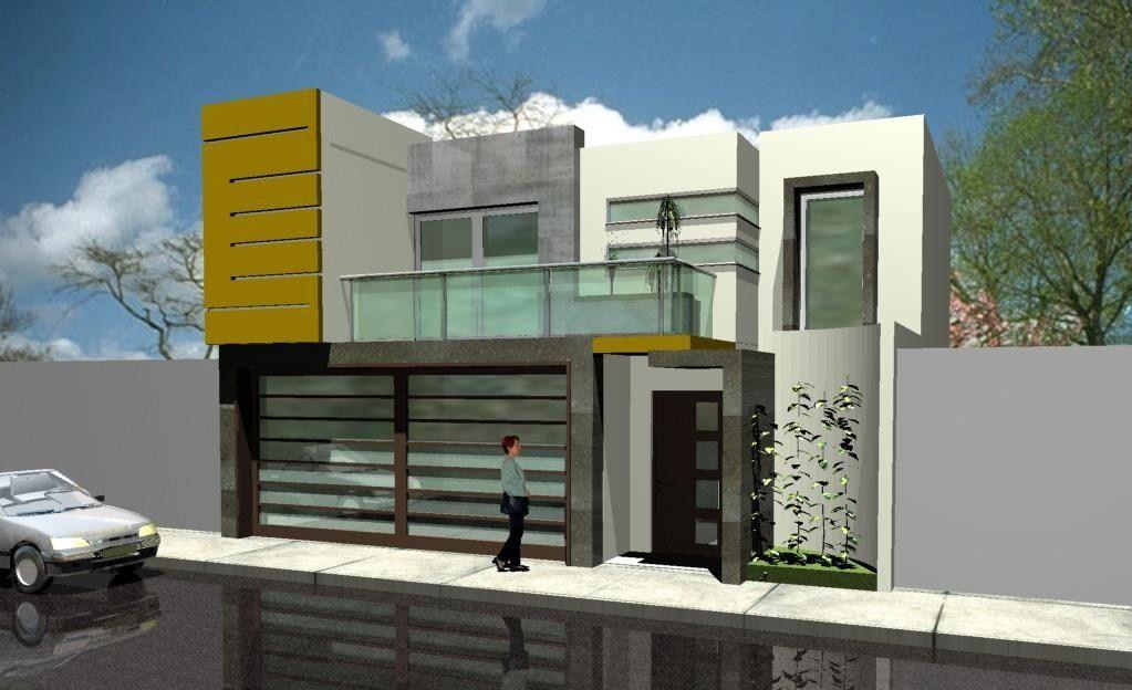 27 modelos de frentes de casas simples e modernas for Frentes de casas minimalistas