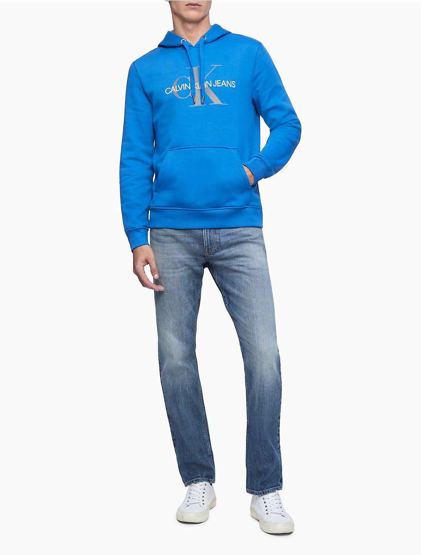 Monogram Logo Fleece Hoodie Calvin Klein In 2021 Mens Casual Outfits Long Sleeve Sweatshirts Fleece Hoodie [ 1541 x 1170 Pixel ]