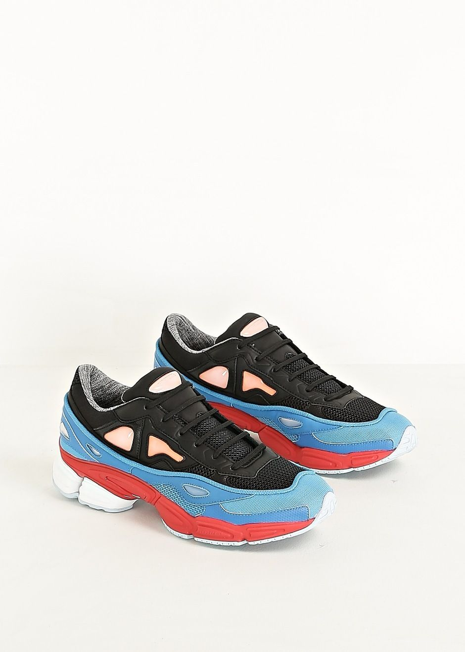 Adidas Raf Simons Ozweego 2 Sneaker (Black / Red / Lucky / Orange)