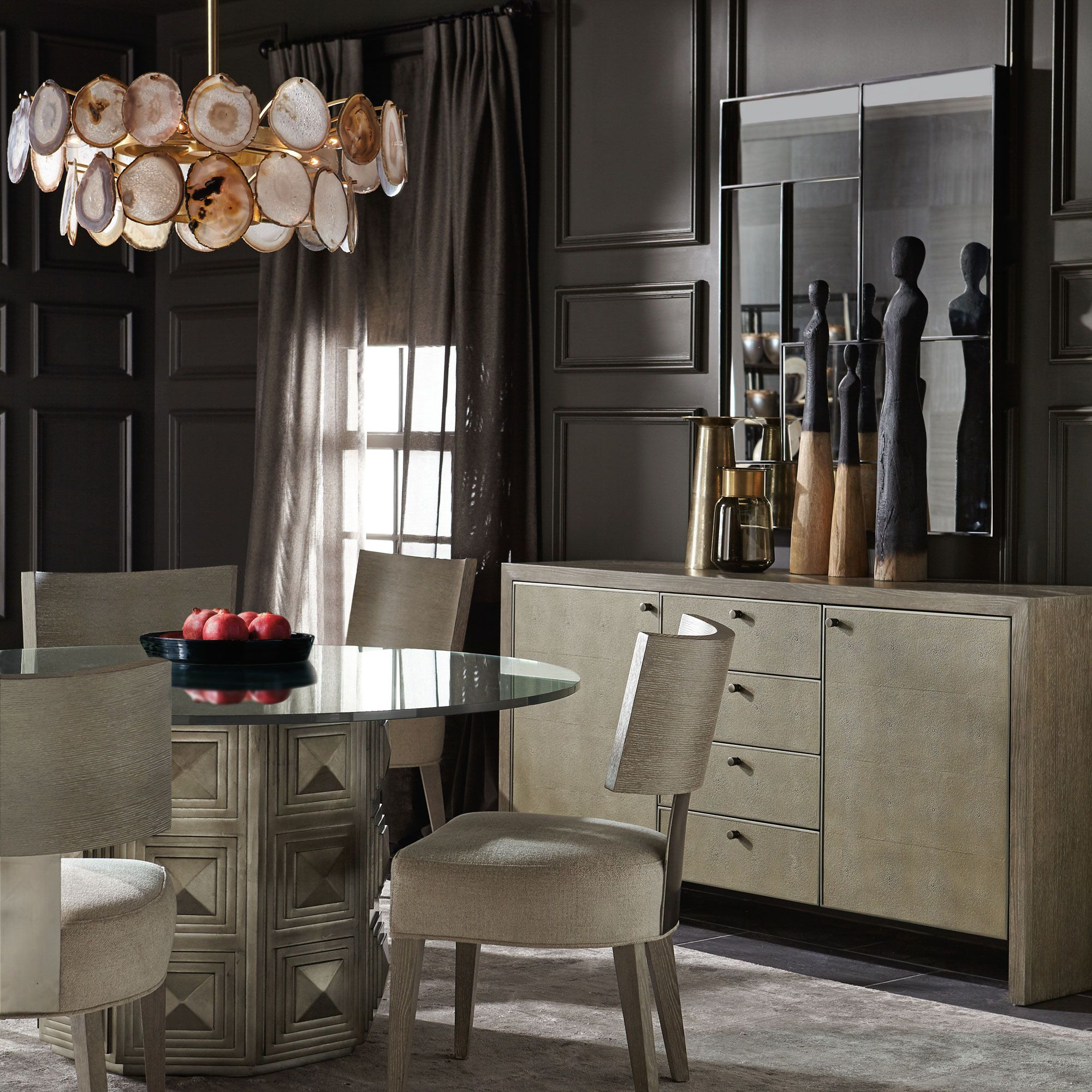 Mosaic Dining Room Bernhardt Side Chairs Dining