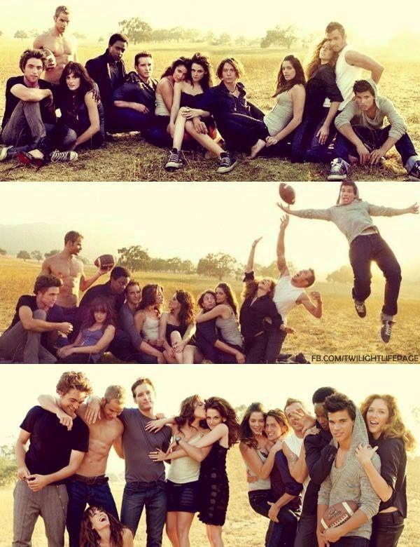 "the cast of ""Twilight"" in a photo shoot ""Vanity Fair"" magazine."