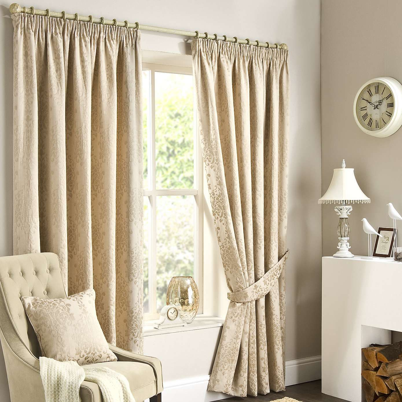 Dunelm Mill Kitchen Curtains Murano Natural Lined Pencil Pleat Curtain Dunelm Bedroom