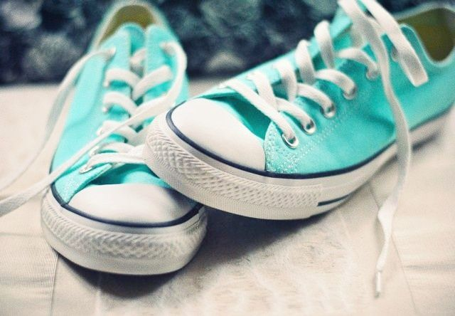 Tiffany Blue Converse Tennis Shoes   tiffany converse.. WANT!