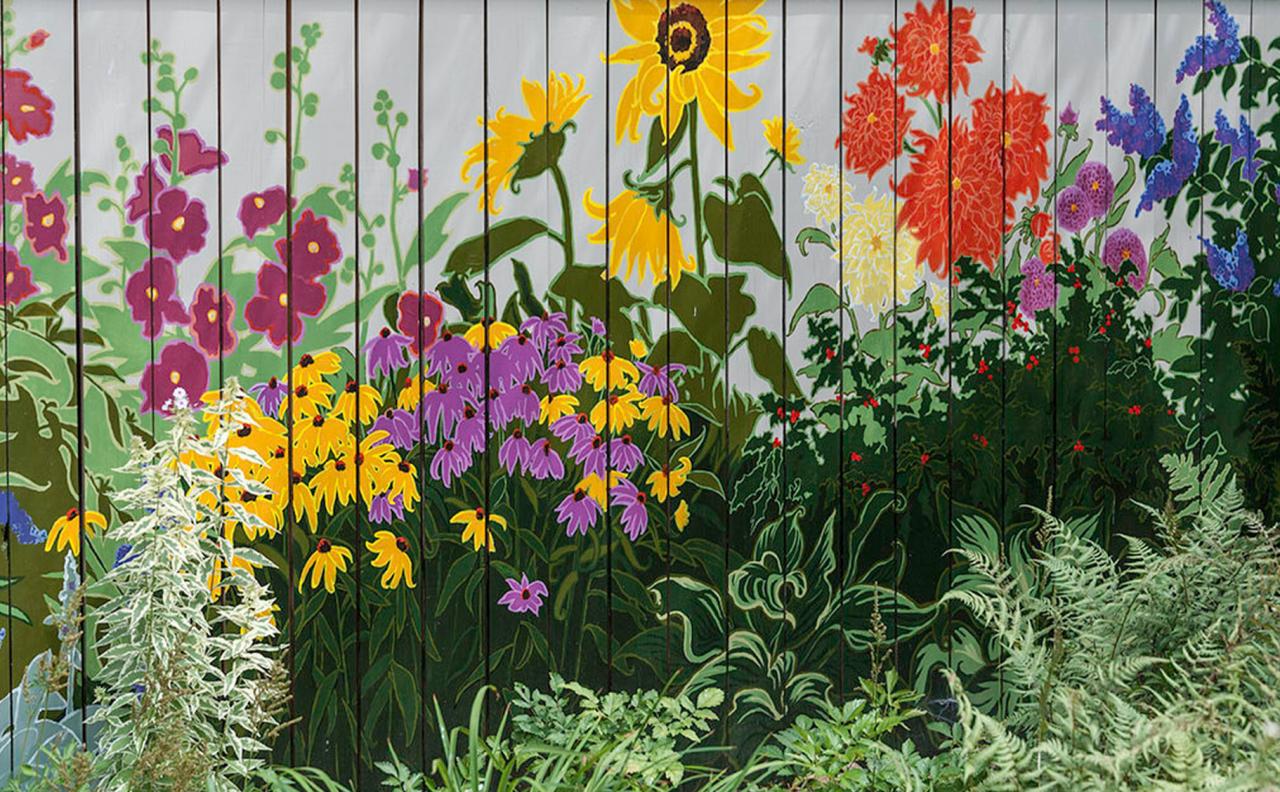 картинки из цветов на забор пара откровенно