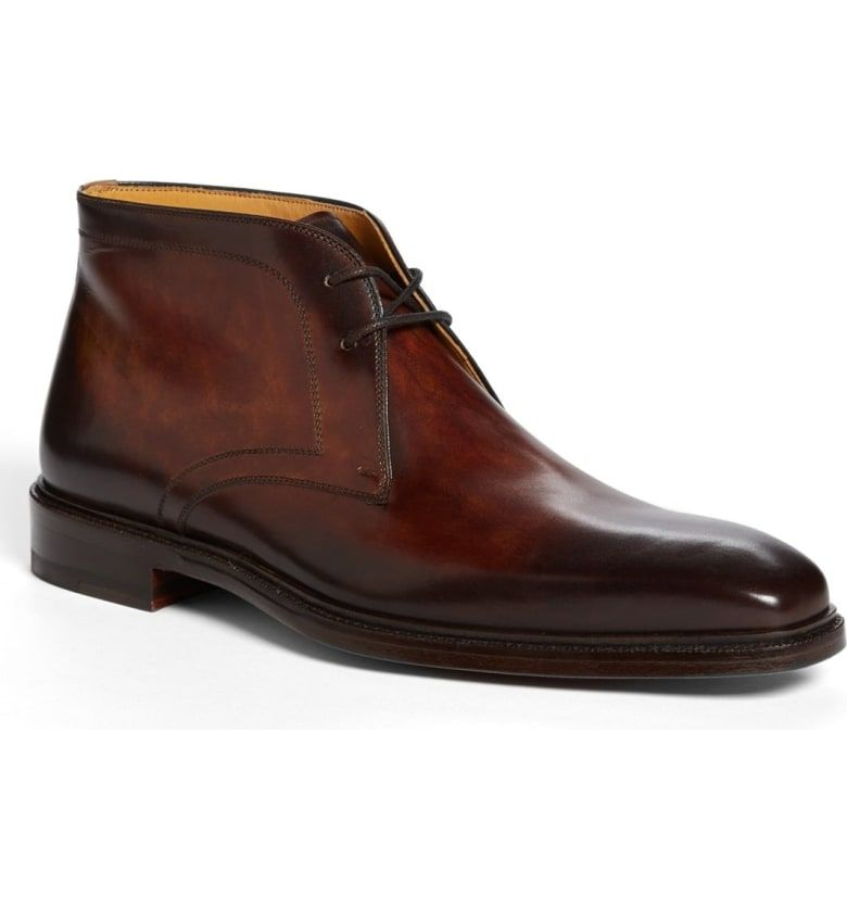309747b077d Free shipping and returns on Magnanni  Cid  Chukka Boot at Nordstrom.com.  Richly burnished leather shapes a handsome chukka boot with a sleek  silhouette.