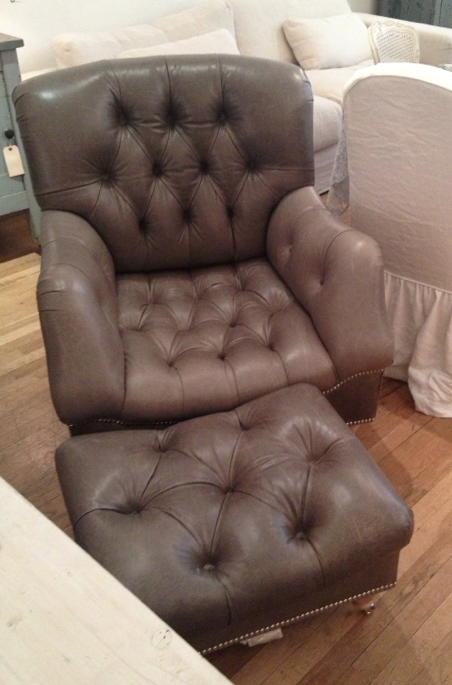 this armchair was made to dominate the depths of mancave interior.