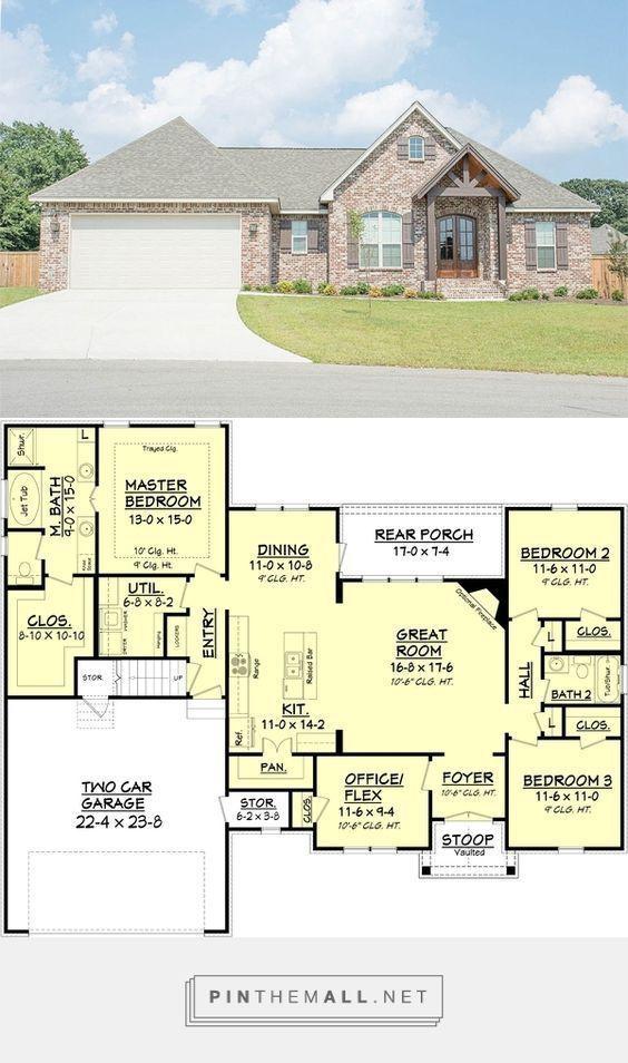 Craftsman Style House Plan - 3 Beds 2 Baths 1842 Sq/Ft Plan #430-89 ...