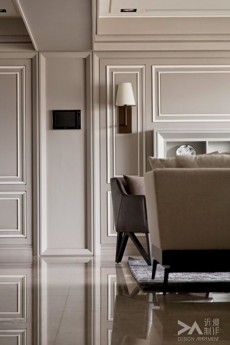 contrast of two tone paneling wall panellingclassic interiormouldingtwo - Moulding Designs For Walls