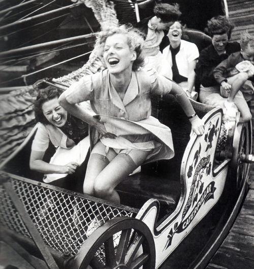 Kurt Hutton - Amusement park, Southend, England, 1938.