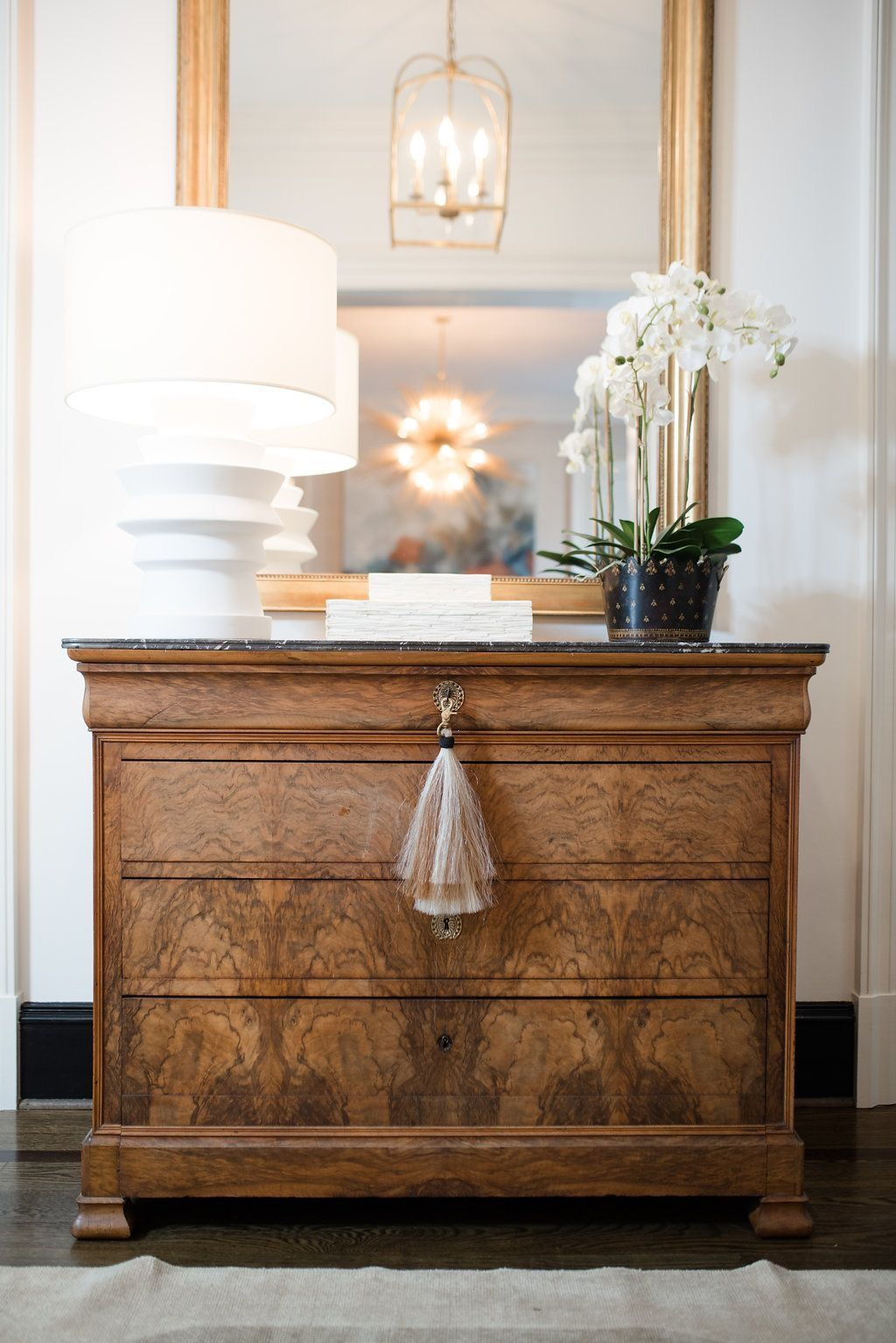 Entryway styling with vintage chest of drawers entry hall table entry hallway entryway tables