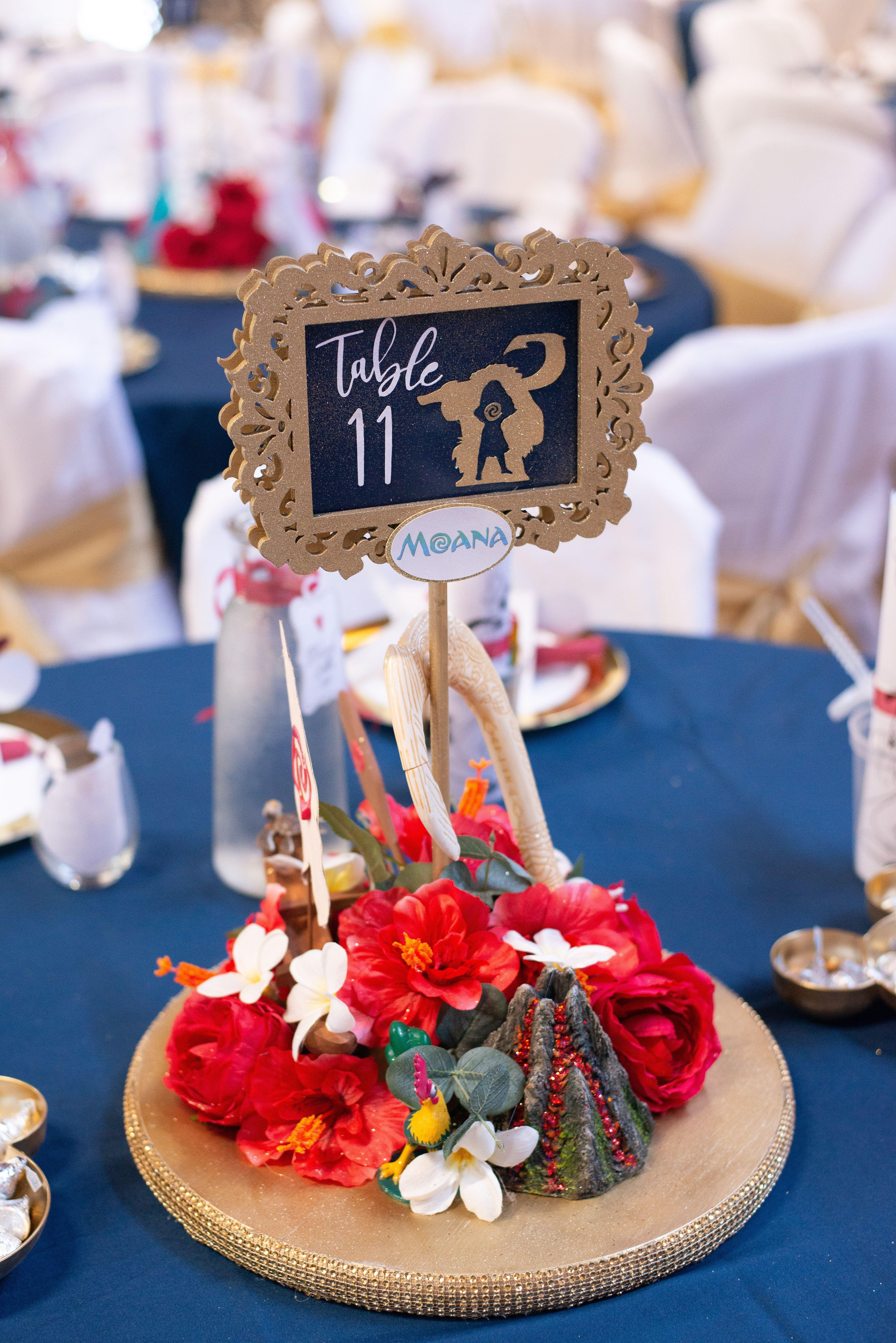 Disney Wedding Centerpiece - Moana | Disney wedding ...