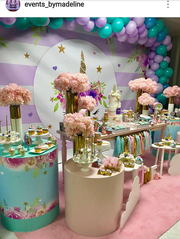 Unicorn backdrop Unicorn birthday party decorations
