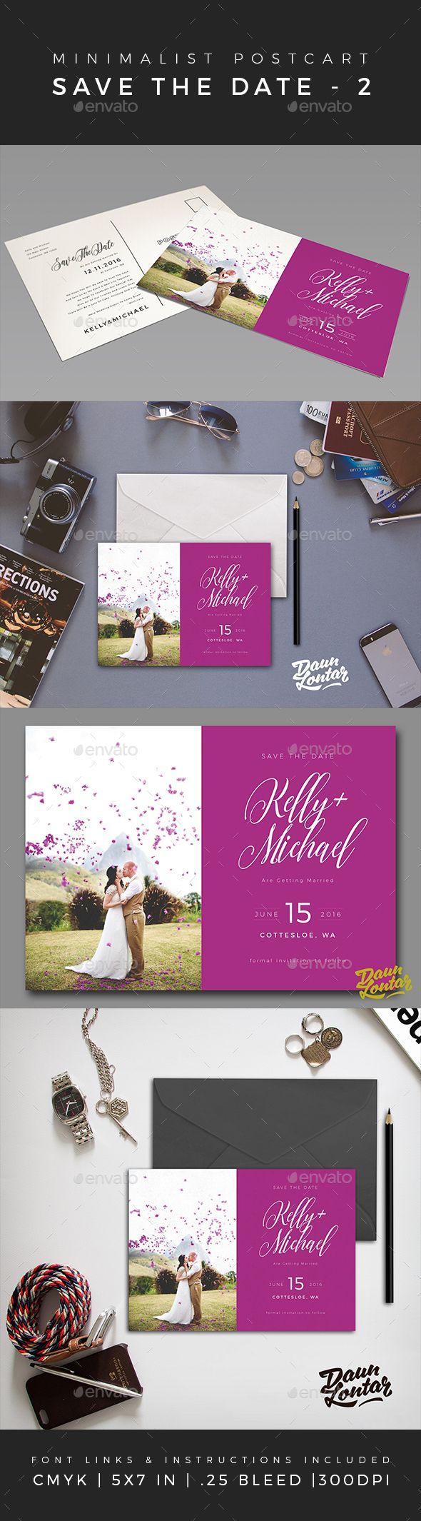 wedding invitation design psd%0A Minimalist Save The Date Postcard Design Template Volume    Weddings Cards   u     Invites Template PSD