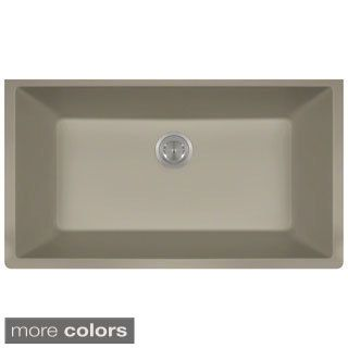 Lexicon Platinum Quartz Composite Kitchen Sink (Large Single Bowl) |  Overstock.com Shopping