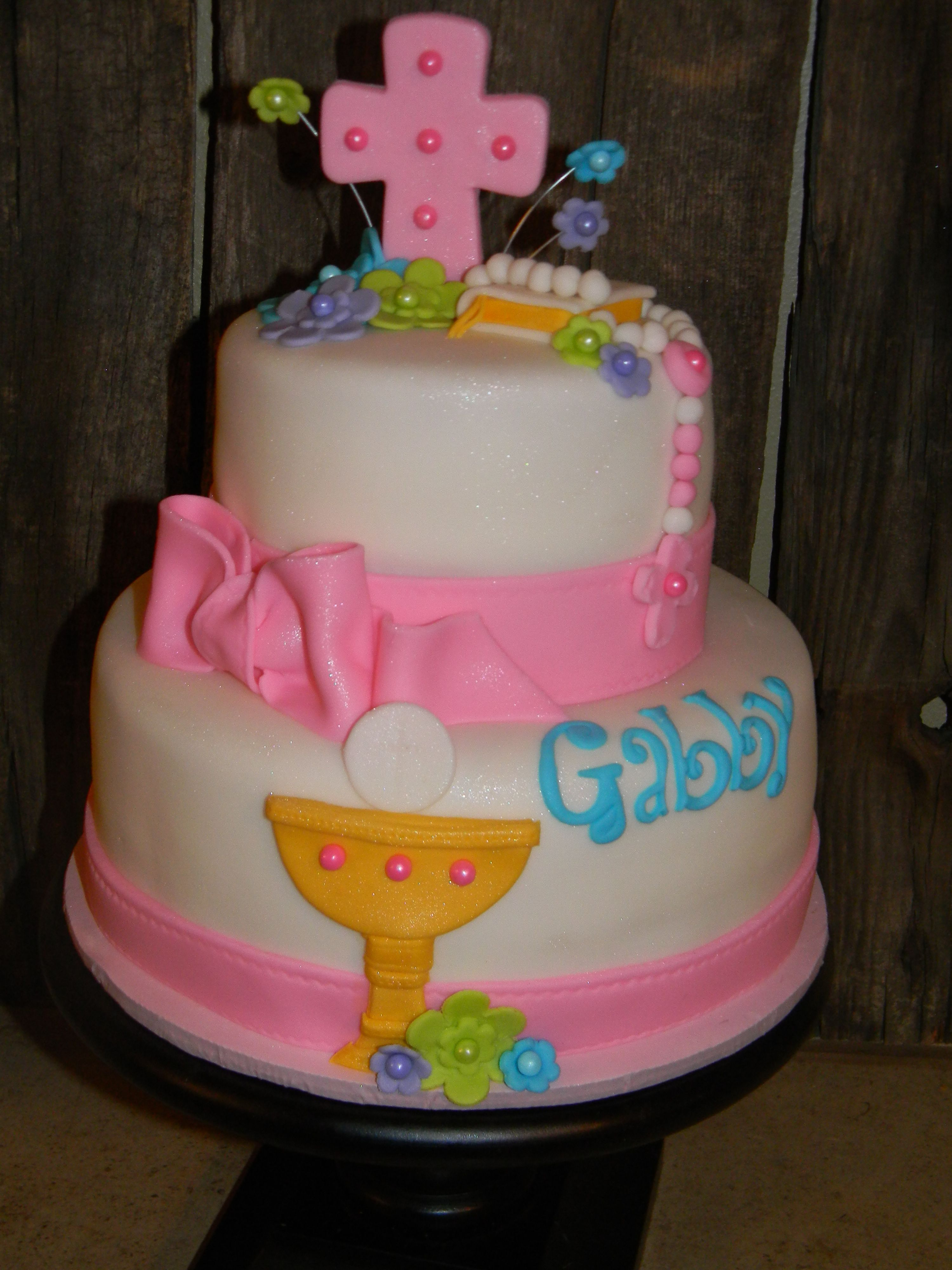1st Communion Cute Cake Sami