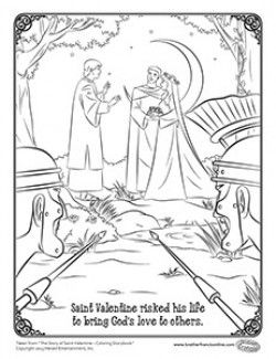 St Valentine Coloring Page Free Valentine Coloring Pages
