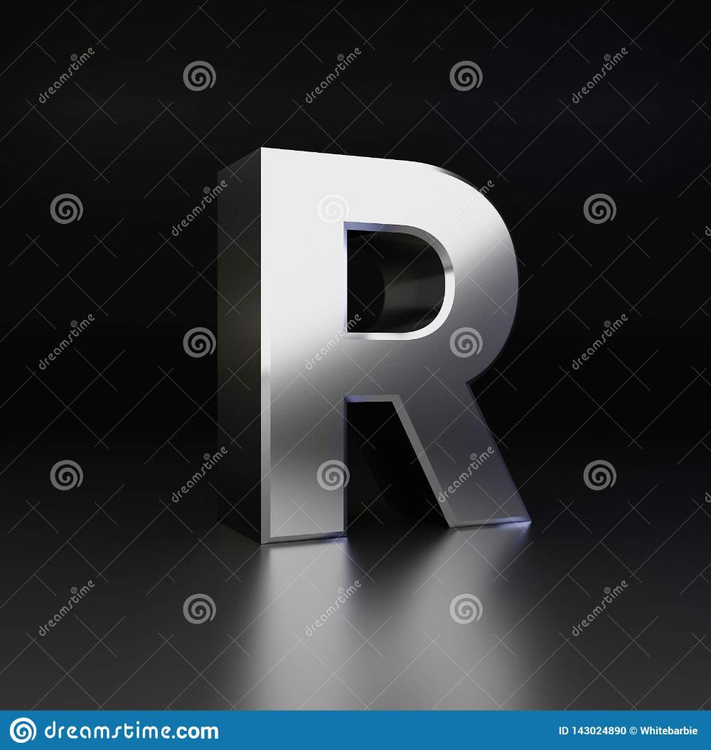 Chrome Letter R Uppercase 3d Render Shiny Metal Font Isolated On Black Background Dreamstime Alphabet Font Letter Metal Font Letter R Black Backgrounds