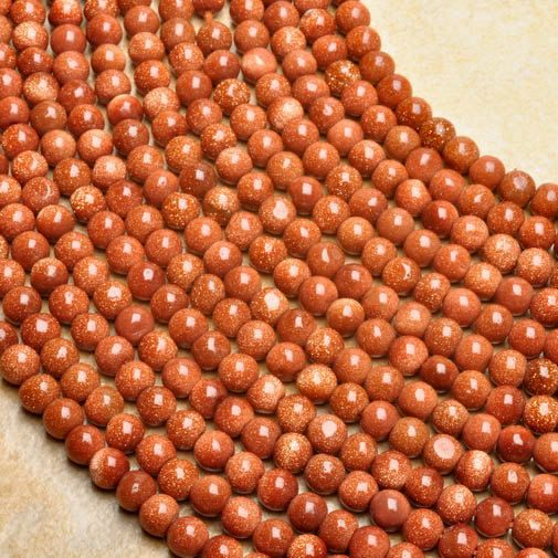 Red Goldstone Gemstone Round Loose Beads 45mm 13 strand by soyon