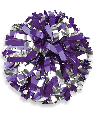 fc0879792d58c In-Stock Metallic Two Color Youth Cheerleading Pom Poms