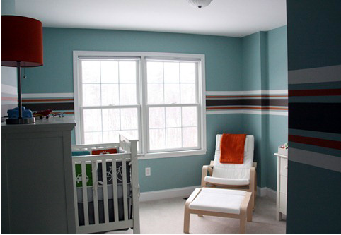white, red and black striped nursery (With images) Baby