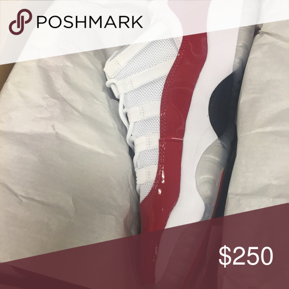 Authentic Red and white Jordan 11s Brand new! Will take more pics upon request. Bought from champs! Jordan Shoes Athletic Shoes