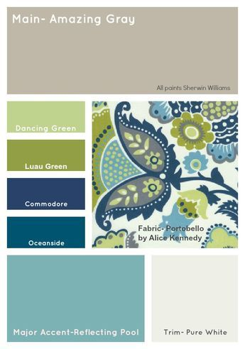 I love these beautiful blue green paint color schemes The cream