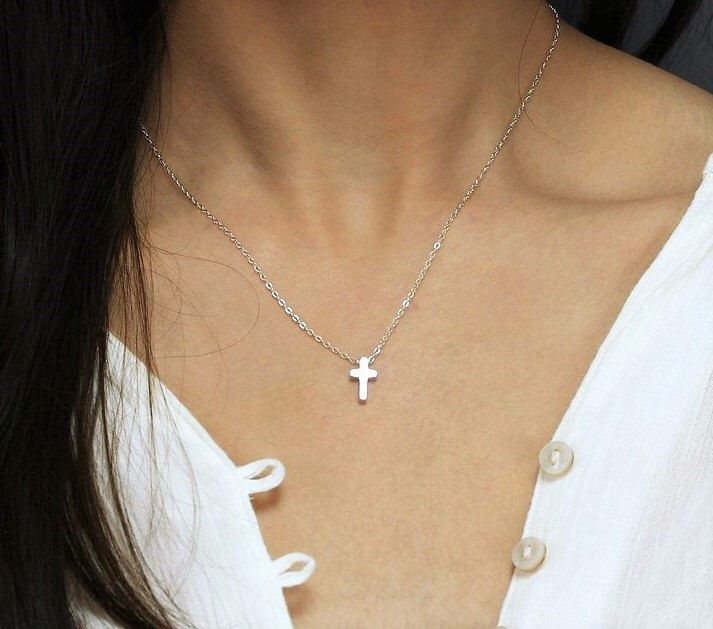 Faith Jewelry Cross For Mom Mommy Necklace Cross Gift For Wife Baptism Gift Neck Jewelry Keepsake Necklace Unique Gift Ideas
