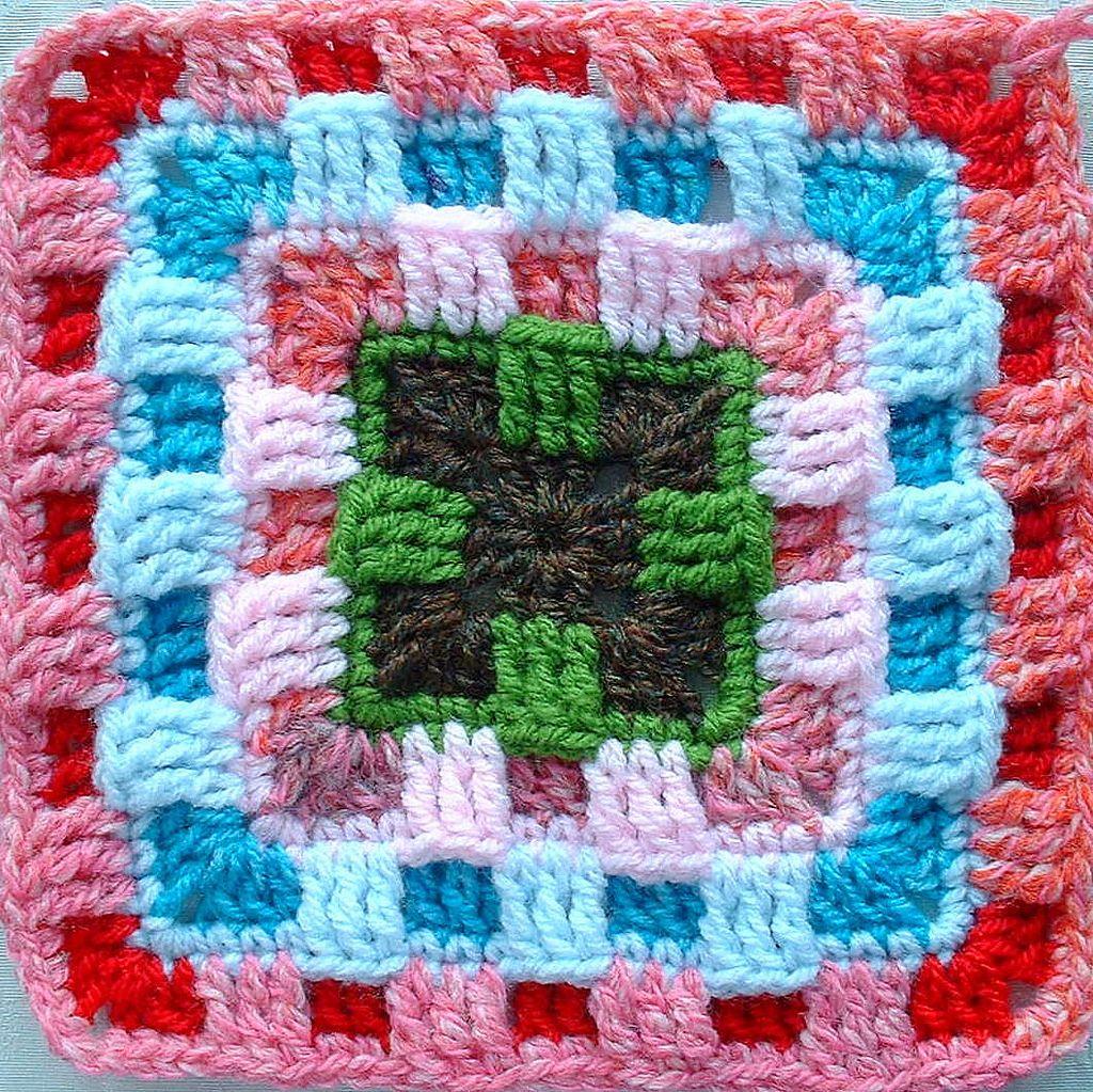 Brighter Daze Square (Amii)   Cuadrados, Ganchillo y Bufandas de ...