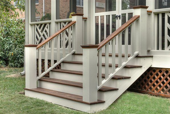 2 Tone Deck Colors Like The Way These Stairs Are Laid Out With