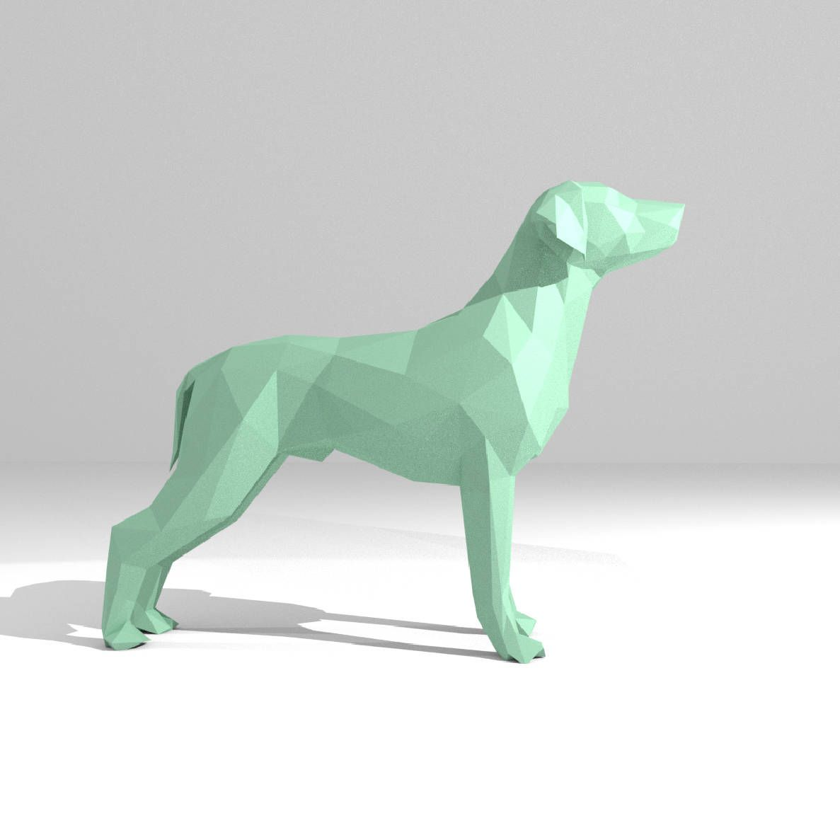 Printable Diy Template Pdf Dogs Set Low Poly Paper Model
