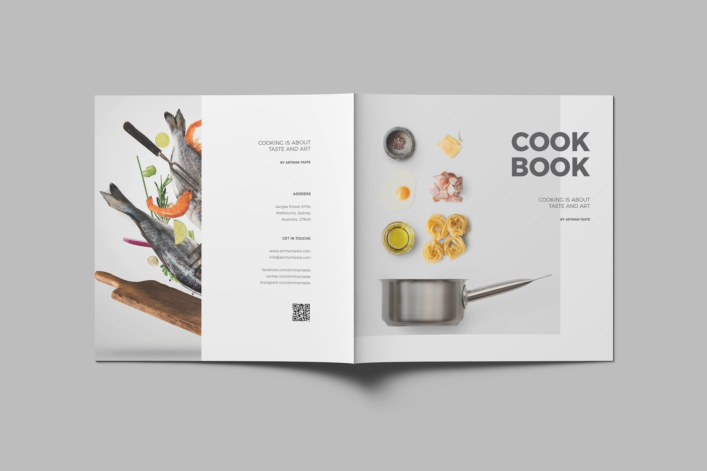 Recipe book layout design.