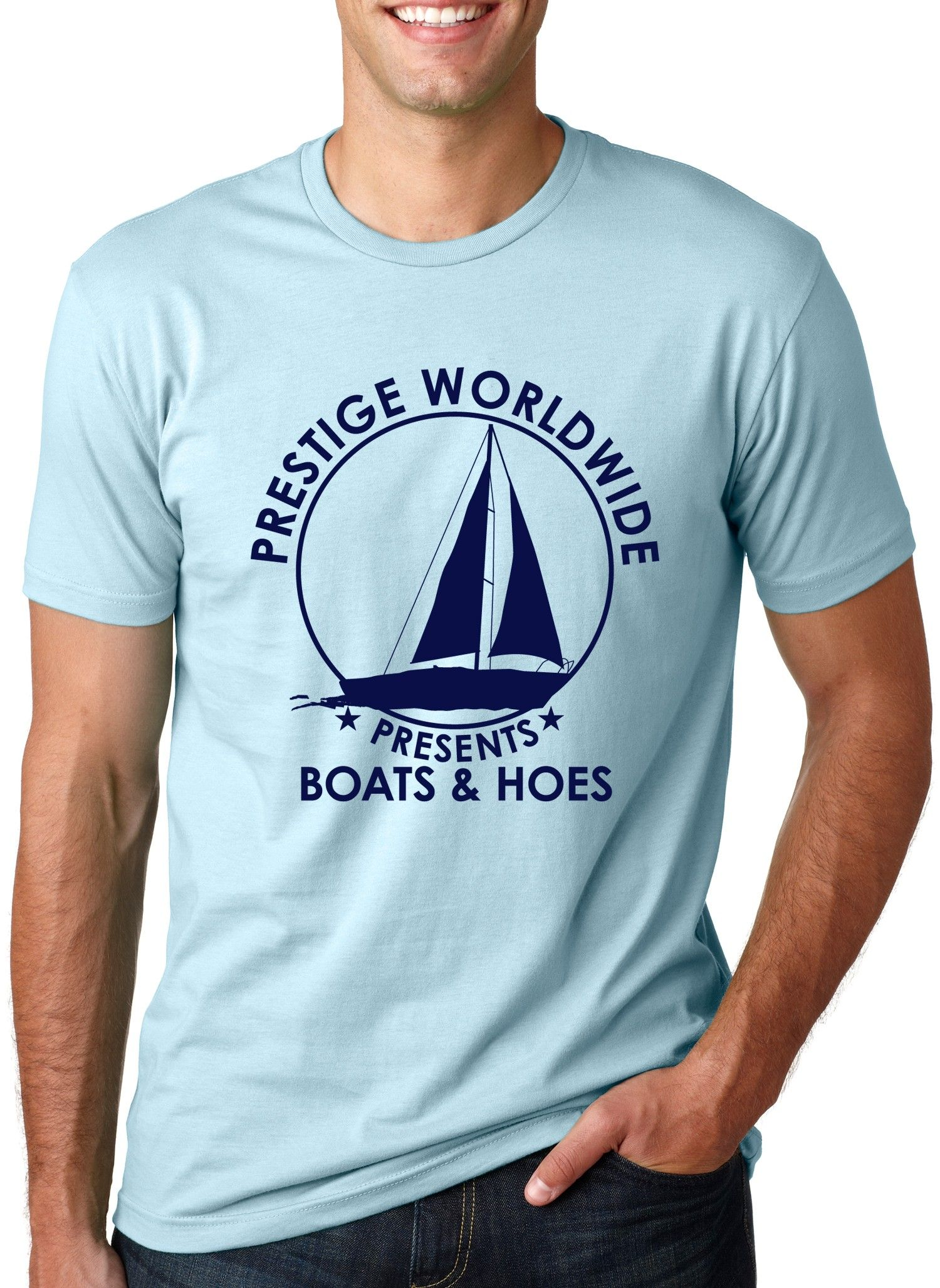 Boats and Hoes Prestige Worldwide Tee T-Shirt. Hilarious Mens Funny