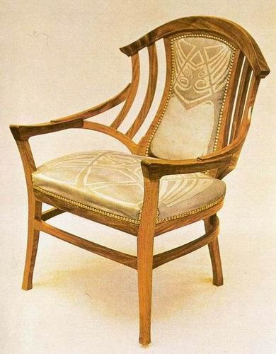 Henry van de velde furniture furniture his pinterest for Art nouveau chaise