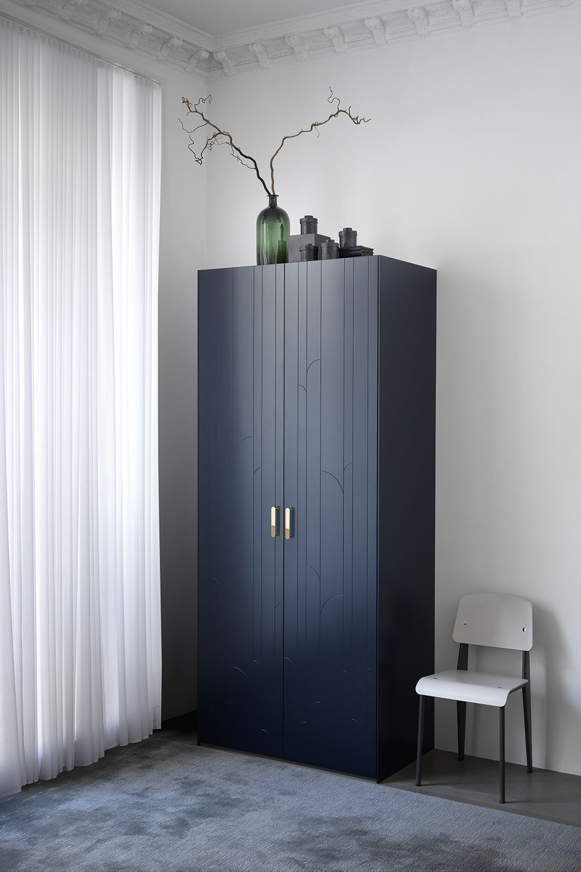 Infinity Blue / Superfront wardrobe | Ikea pax, Built in ...
