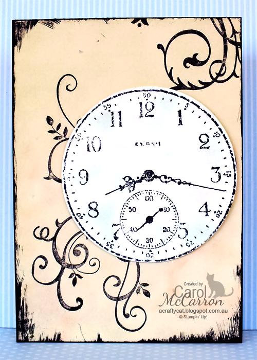 A Crafty Cat Clock card, Cards, Birthday blast