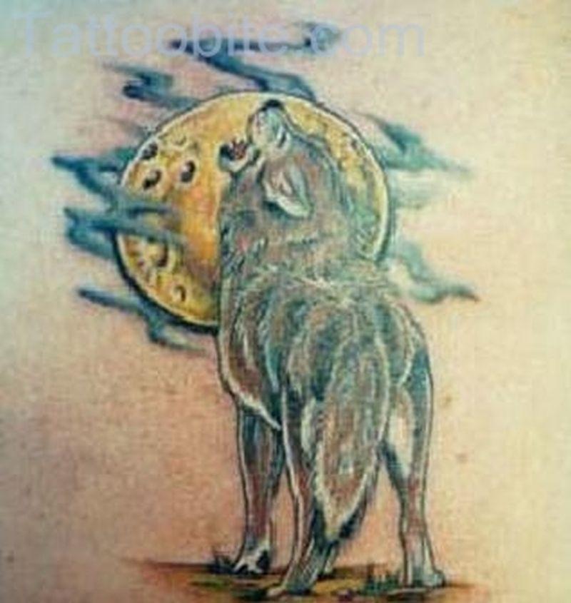 4458e17f0 Haunted Night – Wolf Tattoo - Tattoos Book - 65.000 Tattoos Designs ...