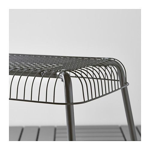 VÄSTERÖN Bench, In/outdoor, Grey Grey