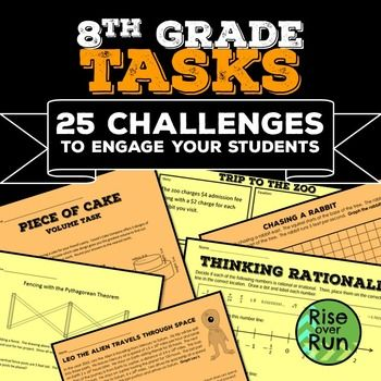 8th Grade Math Tasks Bundle | 8th grade math, Math tasks ...