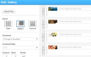 Galerij widget van SiteBuilder
