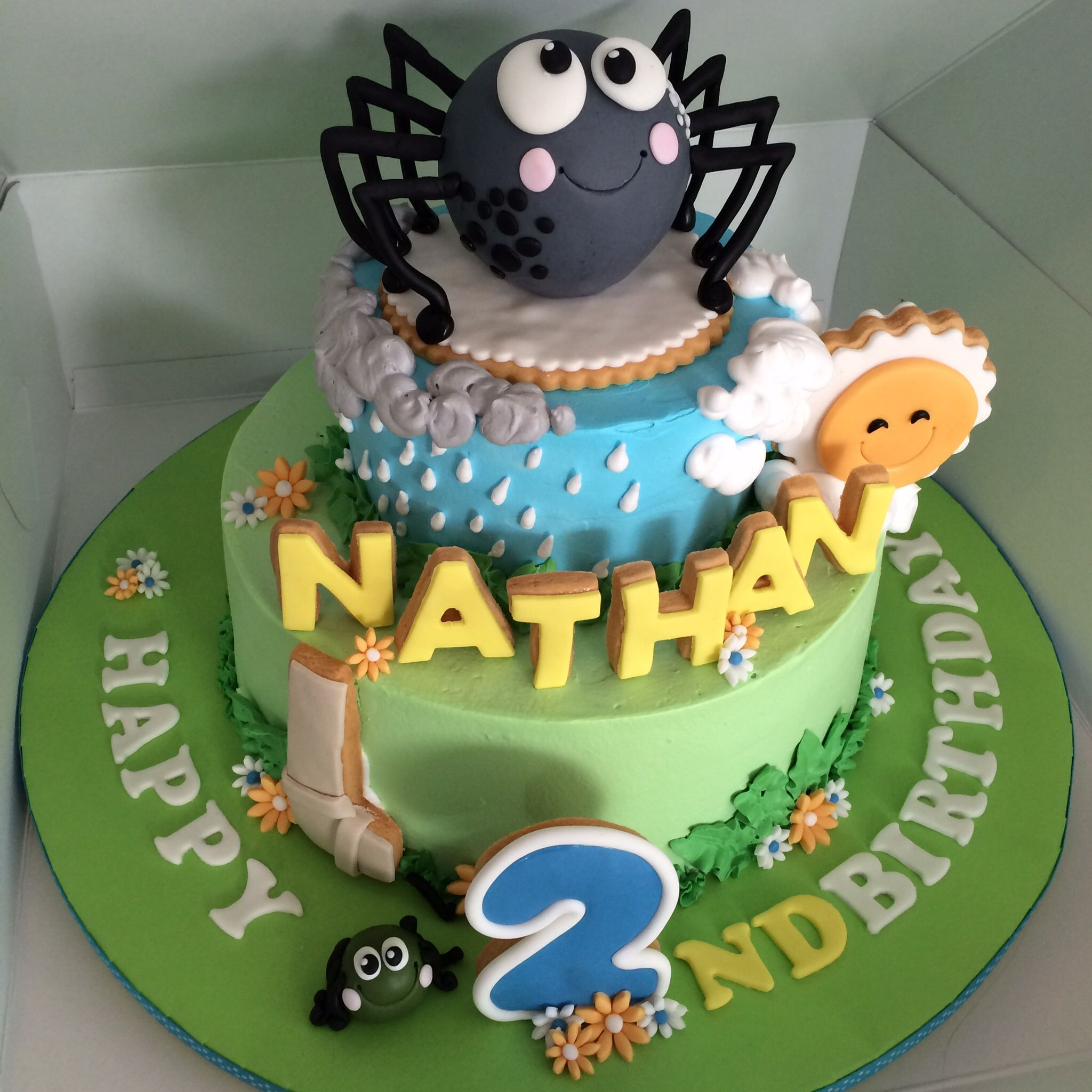 Fine Incy Wincy Spider Cake With Images Spider Cake Itsy Bitsy Funny Birthday Cards Online Inifofree Goldxyz