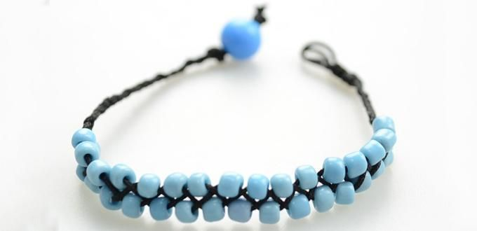 How to Braid Cord Friendship Bracelet with Glass Seed Beads