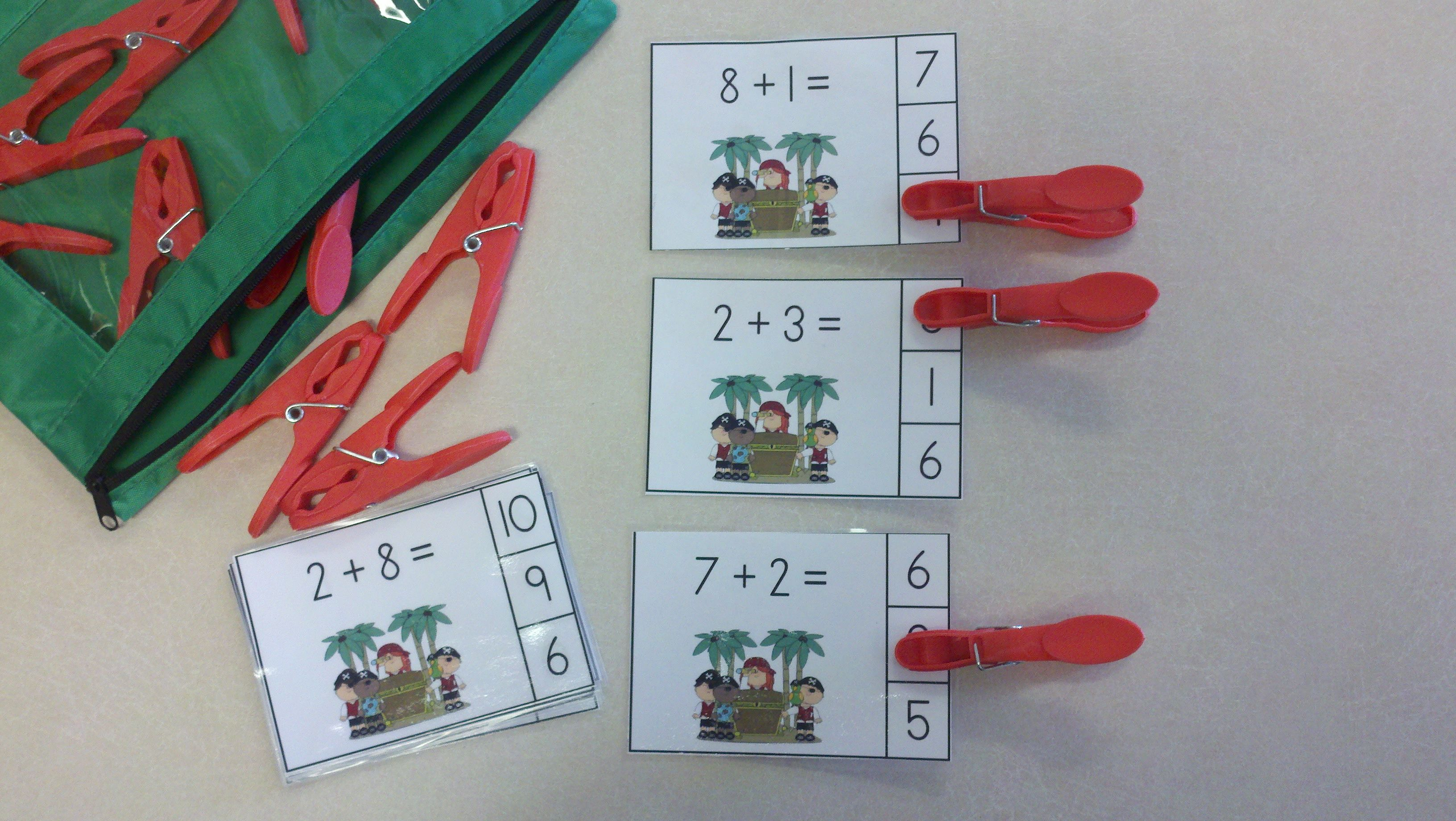 Pirates and Parrots Addition Math Centers (Sums of 0-10) | Primary ...