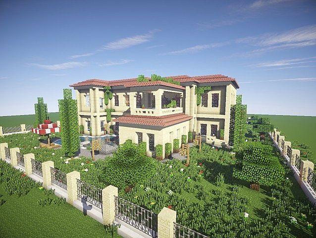 California Mansion   Minecraft modern, Cool minecraft ... Ideas For Minecraft Mansions