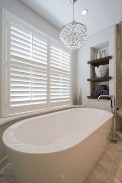 Love The Shelves Next To The Freestanding Tub If We End Up Finding Space Behind The Tub Wall We Coul Free