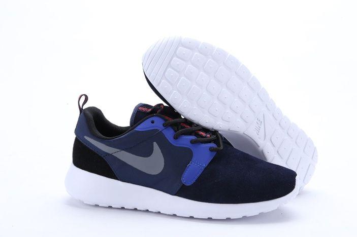 the latest 05254 83d55 ... sweden nike roshe run zapatillas mujeres azul negro blanco 2 plata  97261 dee94