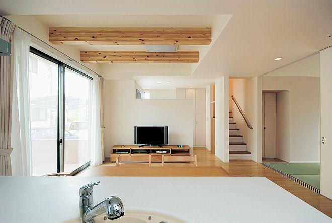 壁の工夫で広がりをさらに大きく 住宅 家 注文住宅