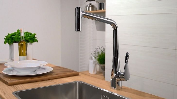 cool Amazing Hansgrohe Metro Higharc Kitchen Faucet 86 In Small Home ...