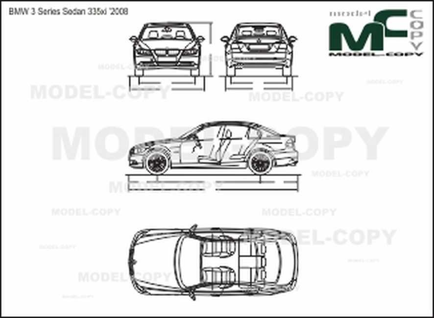 BMW 3 Series Sedan 335xi '2008 - disegno - Model COPY