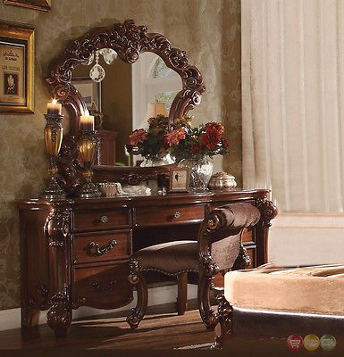 Vanities and Makeup Tables 32878 Vendome Victorian Luxury 7-Drawer - Bedroom Vanity Table